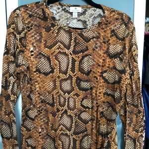 Altuzarra for Target LS python print cotton shirt